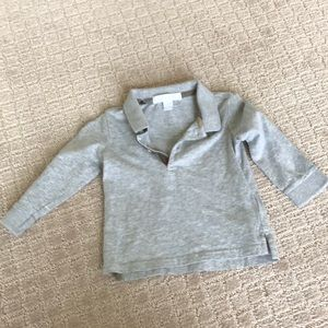 Burberry baby polo in light grey size 9 months